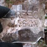 Smashed mason jar