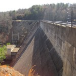 The top of Philpott Dam