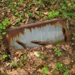 The remains of the moonshine still.