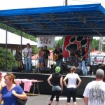 One of the many bands that played over the weekend