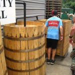 A fake moonshine still at Piedmont Distillers