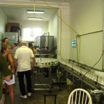 The production line inside the distillery