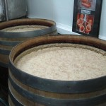 Fermenting mash in 250 gallon barrels